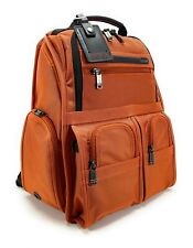 Tumi Compact Laptop Brief Pack Ballistic Nylon Backpack Orange 26173OOP
