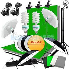 Studio Photo White Black Green Screen Backdrop Light Stand Umbrella Lighting Kit