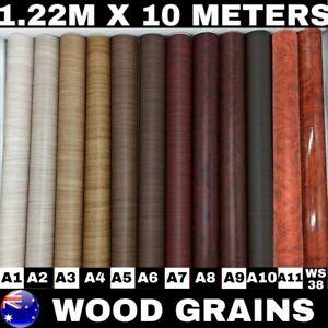 Wood Grain Vinyl Wrap Film Sticker Kitchen Cupboard Door Furniture 1.22M X 10M
