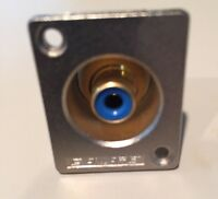 Canare RJRU 75 Ohm Female RCA To Solder-pin Recessed Panel Mount Connector