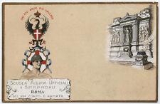 cartolina militare SCUOLA ALLIEVI UFF.E SOTTUFF. ROMA VII°CORPO D'ARMATA