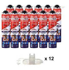 POLYNOR PRO 12pcs - PUR spray polyurethane insulation PU wall, pipe, attic, van