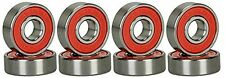 ABEC 9 Bearings Skateboard Deck Long board Skate Set of 8 Red Silver Replacement