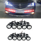 Eagle Eye Led Daytime Running Drl Light Car Auto Lamp Red Front Grille Lights