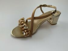 Lunar Marseille Gold Jewelled sandals, UK 7/ EU 40 BNWB RRP £55
