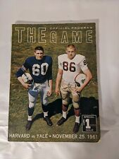 1961 Yale vs Harvard College Football The Game Official Football Program