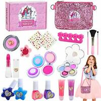 Jojoin Kids Washable Makeup Set, 20PCS Real Cosmetics Kit with Dual Function