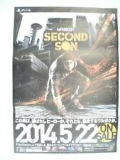 Infamous second fils 2014 Japon Poster Taille B2 PS4 jeu Sucker Punch NOT FOR SALE