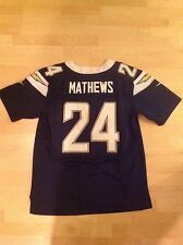 Nike Adult Size 48 San Diego Chargers Ryan Matthews Fully Stitched Jersey Blue