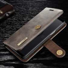Samsung S9 S8 Plus Note 8 S7 Magnetic Leather Wallet Cards Removable Case Cover