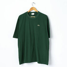 Vintage LACOSTE T-Shirt in Green Size 7 XXL 80's Retro Crew Top Tee