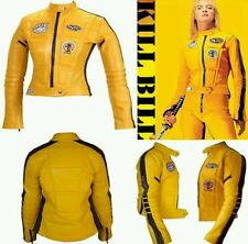 KILL BILL LADIES MOTORBIKE  LEATHER JACKET - CE APPROVED FULL PROTECTION