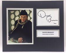 RARE David Bradley Dr Who Signed Photo Display + COA AUTOGRAPH DOCTOR WHO