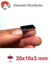 Lot aimant bloc 20x10x3 mm Très Puissant Neodyme N35 : Fixation, Magnet, Fimo..