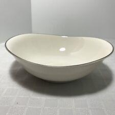 Syracuse China Chevy Chase Vegetable Bowl White Platinum Trim