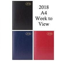 2018 A4 Week to View Diary 3 Colours to choose from