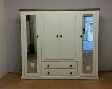 AYLESBURY NEXT 4 DOOR  2 DRAWER QUAD WARDROBE( IVORY & DARK OAK)-  SPECIAL OFFER