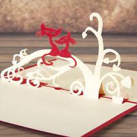 Kids Creative Gift 3D Handmade Cute Little Cat Invitation Cards Birthday Jian