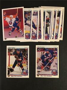 1990/91 Upper Deck New York Islanders Team Set 23 Cards