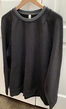 $98 Lululemon City Sweat Men's Crew Neck Long Sleeves Black Size XL