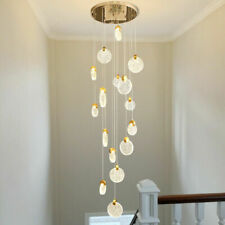 LED Crystal Staircase Pendant Lamp Living Room Ceiling Lighting customized lamp