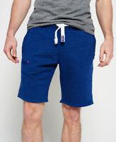 New Mens Superdry Orange Label Slim Shorts Baseball Blue Marl