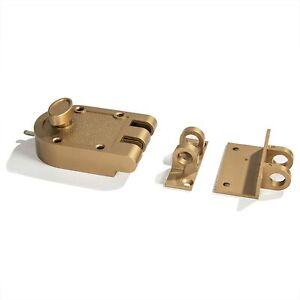 Jimmy Proof Deadbolt Door Lock, Brass, Single Cylinder with Key Entry, Bronze.