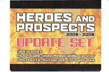 2005-06 ITG Heroes & Prospects Update Hockey Set