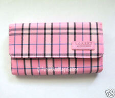 Ladies Purse / Wallet Pink Check Lorenz BNWT