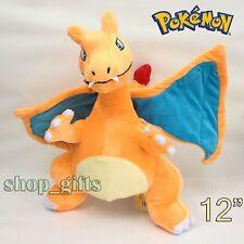 "Pokemon Plush Charizard #006 Soft Toy Fire Dragon Stuffed Animal Doll Teddy 12"""
