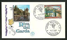 ITALIA BUSTA FILAGRANO TURISTICA 1981 RIVA DEL GARDA ANNULLO RAVENNA  FDC