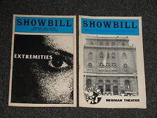 2 Show Bills - NY Shakespare Festival & Extremities 1982