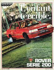 Publicité Advertising 057  1985  la Rover 216    série 200
