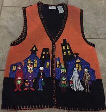 White Stag Black&Orange Halloween Costumes Sweater Vest XL(16/18) Trick Or Treat