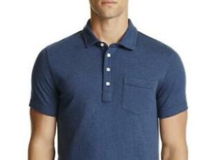 Billy Reid Men's Lake Blue Patterson Polo Shirt Size S New $95 BLM3-38