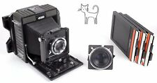Horseman 45HD 4X5 RUGGED field camera with 150mm + 210mm lenses +holders