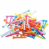 100 pcs Golf Tees 54 mm Plastic Mixed Color G3R8
