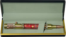 Steampunk Bolt Action Pen with Red Circuit Board and Gift Box