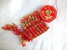 Artificielle Décoration chinois XL Or Rouge pétards mariage fête d'anniversaire L9