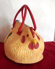 Adorable NY CTLT Yellow Rubber Hen Purse Bag, NEW