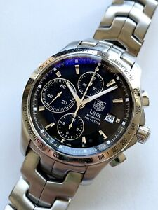 TAG HEUER LINK 42mm Automatic Chronograph 7750 Watch CJF2110.BA0594 NO RESERVE!
