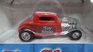 Hot Wheels '32 FORD Red 1932 w/RR REAL RUBBER Toy Shop Special Edition