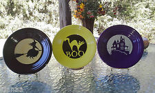 "FIESTA halloween HAUNTED HOUSE 9"" LUNCHEON lunch PLATE only PLUM"