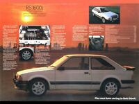 FORD ESCORT RS1600i DIAMOND WHITE RETRO POSTER PRINT CLASSIC 80's ADVERT A3