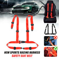 4 Point Racing Harness Safety Seat Belt Car Strap Quick Release Sport Race  ~ &
