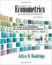 Introductory Econometrics: A Modern Approach Jeffrey M(Int' Ed Paperback)5 Ed