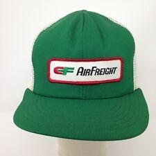 50d94b21acb VTG 80s USA Made EF AirFreight Trucker Hat Green White Mesh Snapback Long  Haul