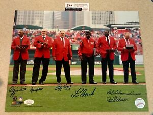 St. Louis Cardinals 6 Red Coats signed by all 6 * 11x14 * JSA * Brock, Gibson