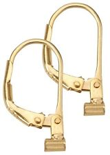 Earrings Converters Convert Post Earring to Lever Back Gold over Sterling Silver