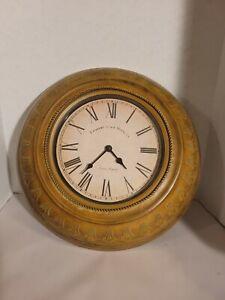 "Round Wall Clock Edinburgh Clock Works Co roman numeral 16"""